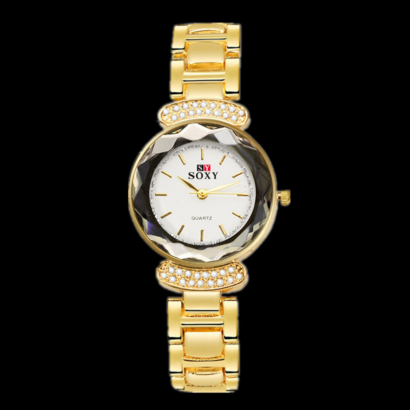 все цены на SOXY Brand Top Luxury Diamond Watch Women Watches Gold Bracelet Quartz Watch Ladies Full Steel Watch Lady Hour relogio feminino