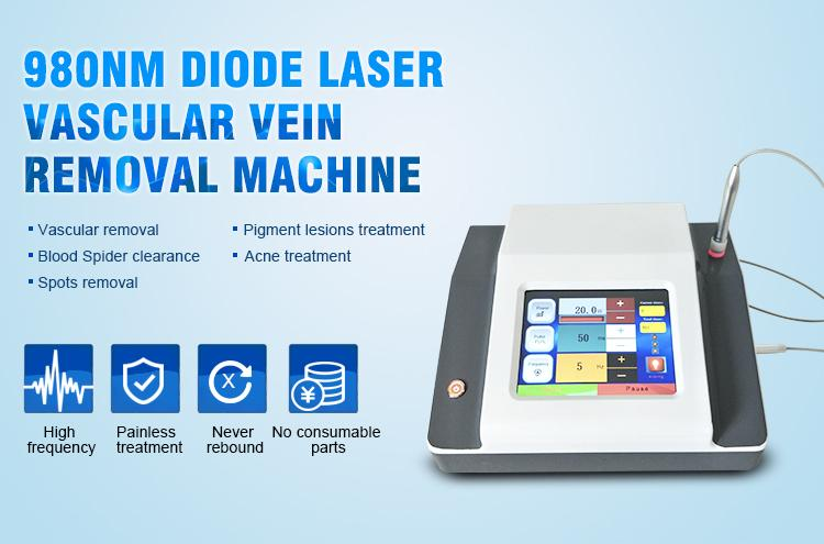 2019 New Effective Vascular Removal Laser Machine 980nm Diode Laser Machine/Blood Vessel Vein Removal Acne Treatment Beauty