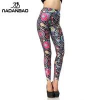 Woman 3D Digital Cartoon Flower Chinese Style OEM Custom Printed Leggings Pencil Skinny Pants 2014 New