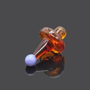 Image 5 - Hornet premium universal sólido vidro colorido ufo carb tampa cúpula para tubos de água vidro 38mm dab óleo plataformas quartzo banger pregos