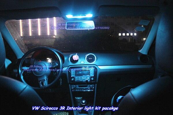 Coche led para vw scirocco 3r interior kit de luz led blanco luces led frontal luz trasera - Poner luz interior coche ...