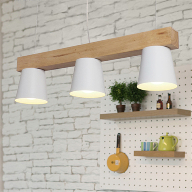 3 / 5 Head Modern Home Contracted Wooden Dining Room Pendant Lights Japanese Style Wood Bar / Cafe Light Free Shipping 3 6 head modern contracted janpen style wood pendant light metal cover dining room light study light ac90 265v free shipping