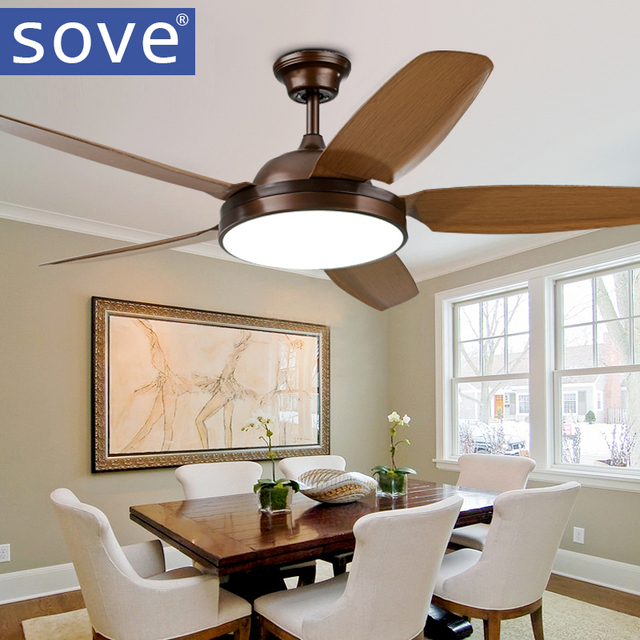52 inch Vintage LED Plafond Fans Met Verlichting Afstandsbediening ...