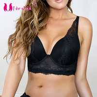 Mierside Women Large Bra Big Size Plus Size Bralette Black Lace Women Underwire Underwear Sexy Lace