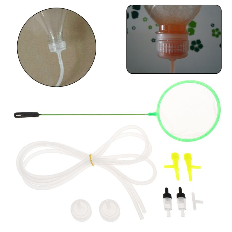 9Pcs Brine Shrimp Incubator DIY Aquarium Hatching system Cap Connection Tee Regulator Hose Check Cultivation Kit