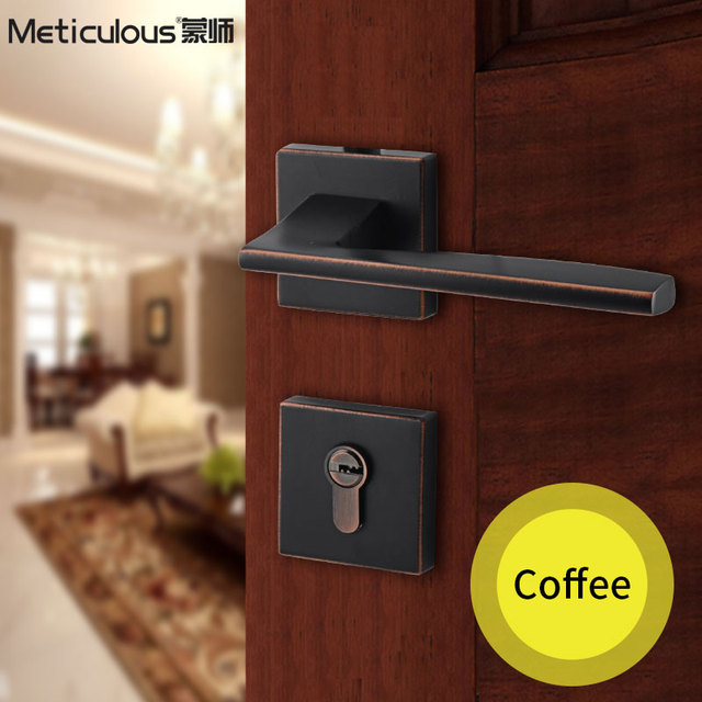 Meticulou Split Silent Lock Mortice Door Handles Lock Core House Interior  Door Wooden Door Lockset