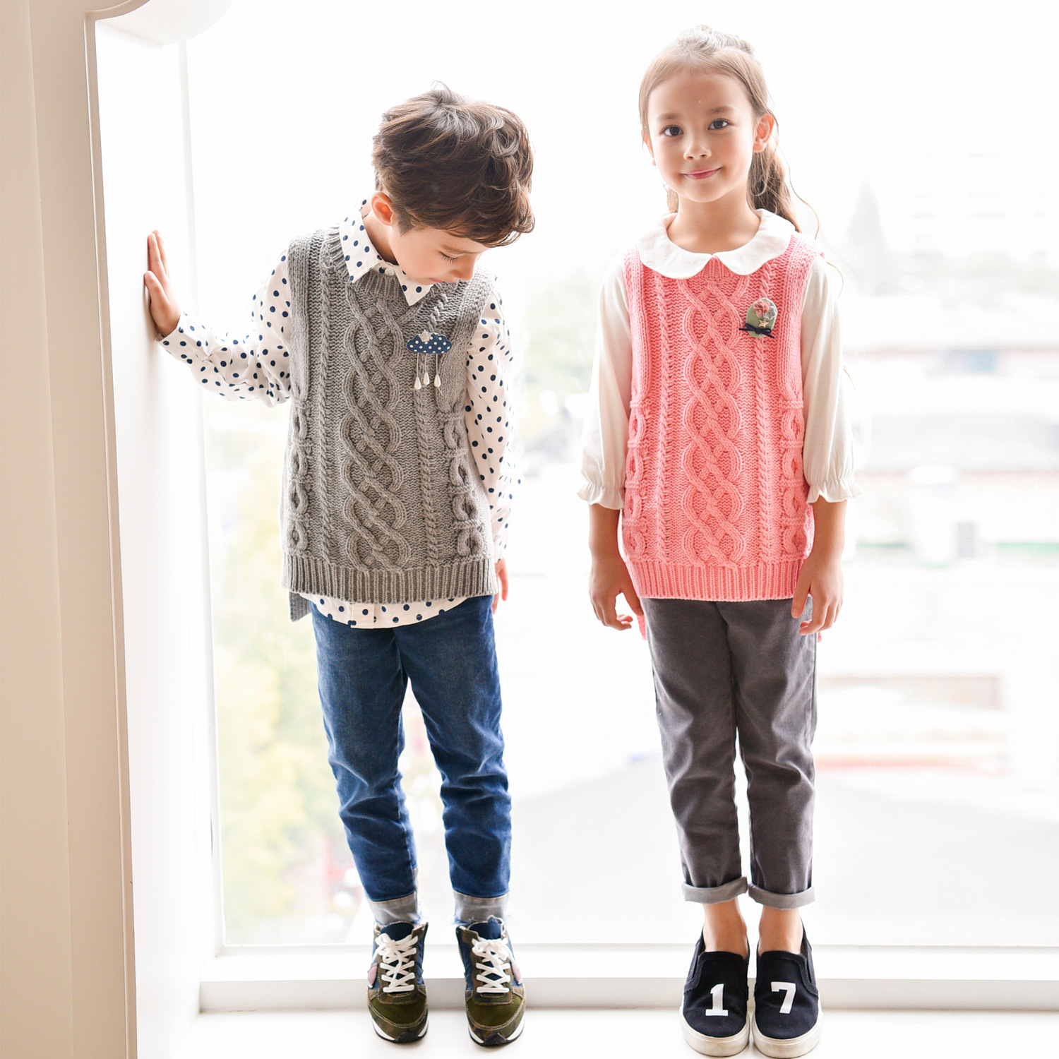 Mom Girls and Boys Sweater Mother and Baby Girl autumn winter