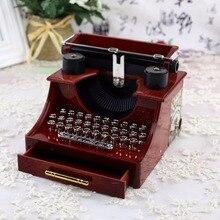 Home Office Mechanical Decoration Kids Retro Vintage Typewriter Music Box