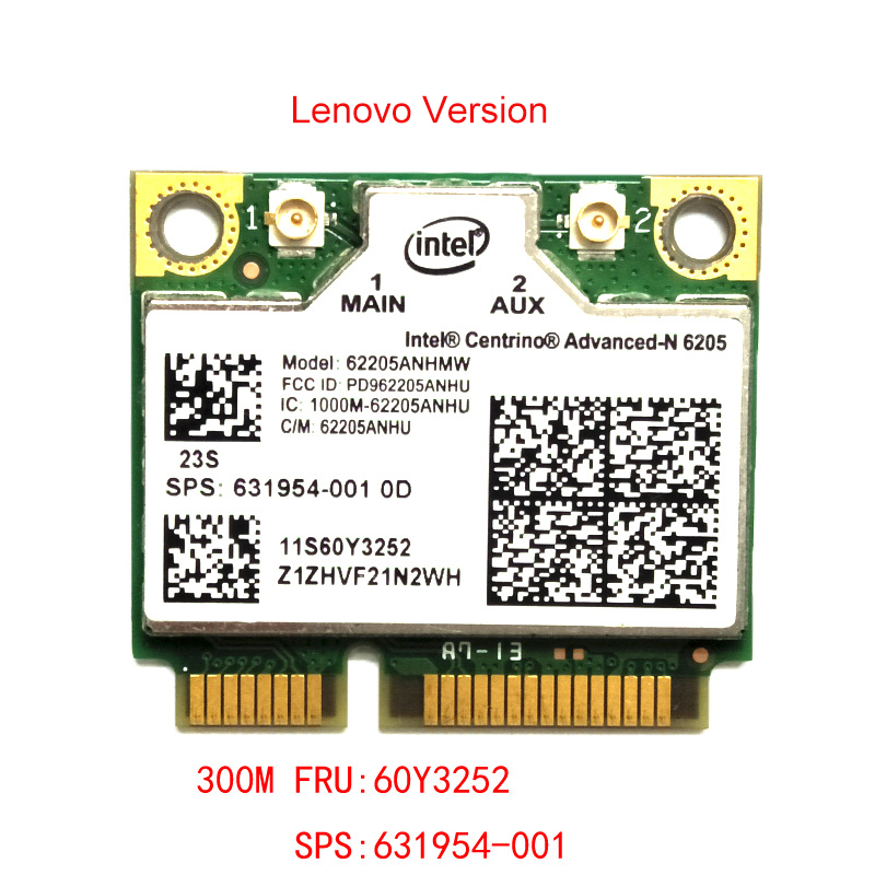6205AGN N6205 FRU 60Y3253 300M  Dual Frequency Wireless Network Card For Lenovo T420 X220i X230i L420 L520 T520 T430