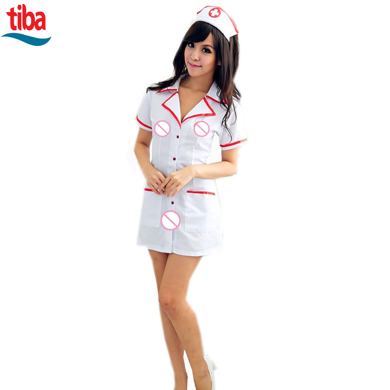 Summer size sexy role play nurse costume Cosplay sexy costumes erotic dress adult sexy lingerie