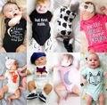 Algodão Bebê Recém-nascido Meninos Meninas Bodysuit Macacão Roupas Outfit Playsuit