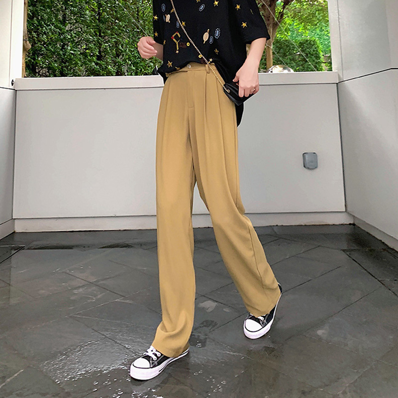 BGTEEVER Elegant High Waist Palazzo   Pants   Women Casual Loose Long   Pants   2019 Summer Female   Wide     Leg     Pants   Excellent Quality