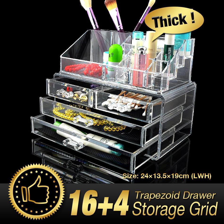 Acrylic Makeup Organizer acrylic clear makeup cosmetic organizer holder  jewellery case storage 4 drawers storage box. Popular Jewellery Storage Drawers Buy Cheap Jewellery Storage