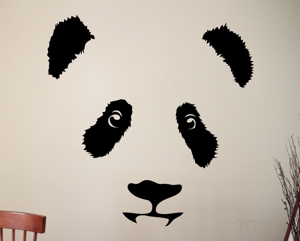 Aliexpress.com : Buy Panda Wall Decal Cute Animal Vinyl ...