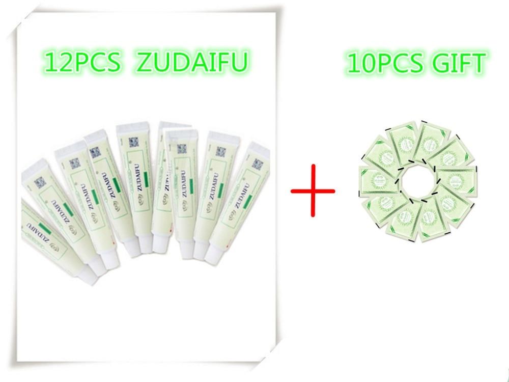 12PCS ZUDAIFU +GIFT Natural Skin Creams Eczema Ointments Psoriasis Eczema Allergic Neurodermatitis Ointmen ( Without Retail Box)
