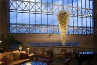 Modern Hand Blown Glass Chandelier Lighting Luxury LED Crystal Chandelier Vintage Foyer Loft Dome Light