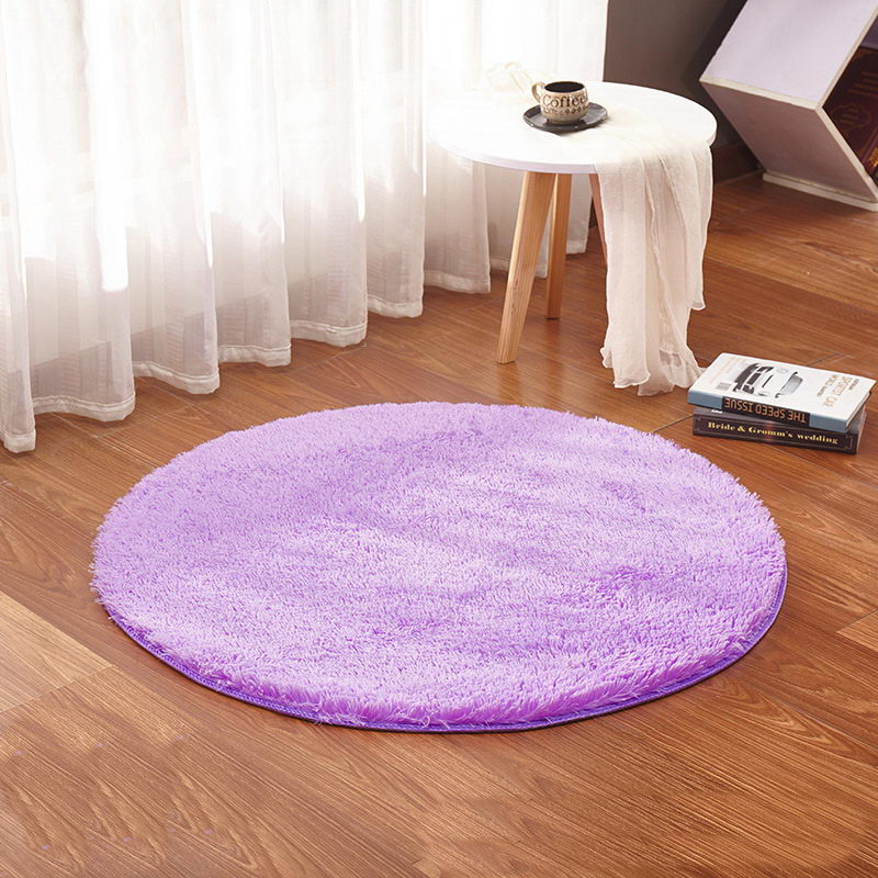 white color Round Rug Carpet Living Room Carpet Kids Room Rugs Soft ...