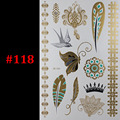 Temporary tattoo Gold tattoo Flash Tattoos India butterfl feather swallow Metallic Sex Products jewelry Body art  tatto stickers