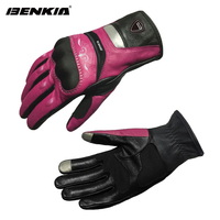 BENKIA Touch Screen Motorbike Motocross Gloves Leather Racing Gloves Women S Motorcycle Racing Gloves Full Finger