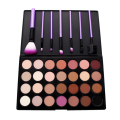 28 Colors Eyeshadow Palette+7pcs Makeup Brushes Eye Liner Blush Lip Foundation Brush Nude Eye Shadow Earth Color Cosmetic Kits
