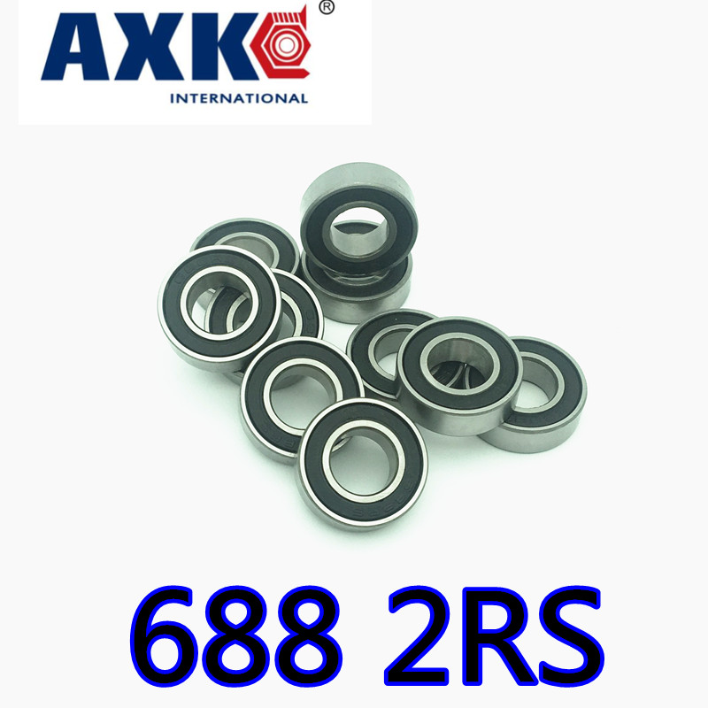 Free Shipping <font><b>688</b></font>-<font><b>2rs</b></font> <font><b>688</b></font> Rs The Rubber Sealing Cover Deep Groove Ball <font><b>Bearings</b></font> <font><b>688</b></font> <font><b>2rs</b></font> 8*16*5mm <font><b>Bearing</b></font> image