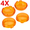 4x Turn Signals AMBER Light Lens Cover For 1986-15 Harley Dyna Softail Sportster Lamp cover Lampshade