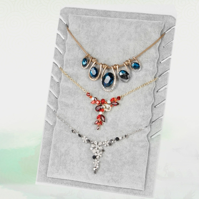 Jewelry Organizer Stand Necklace Display Holder 8 Steps Rack Jewelry