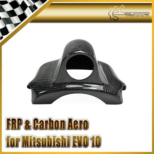 Автомобиль Стайлинг для Mitsubishi Evolution EVO 10 карбоновое волокно Dash Top Single Gauge Pod 52 мм в наличии