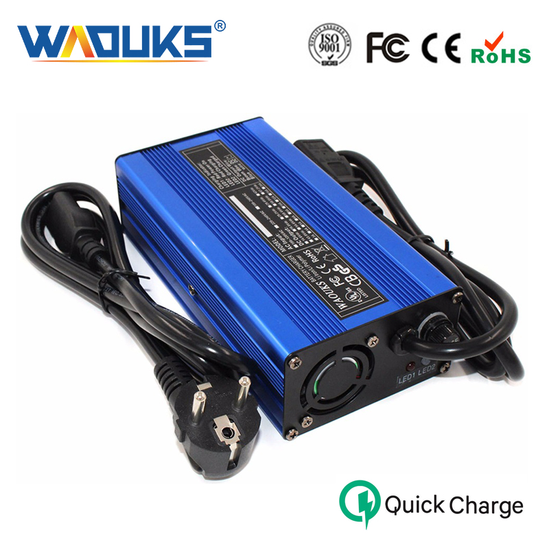 58 8V 2A Charger 14S Lithium Battery Pack Charger With Cooling fan Smart Charge Auto Stop