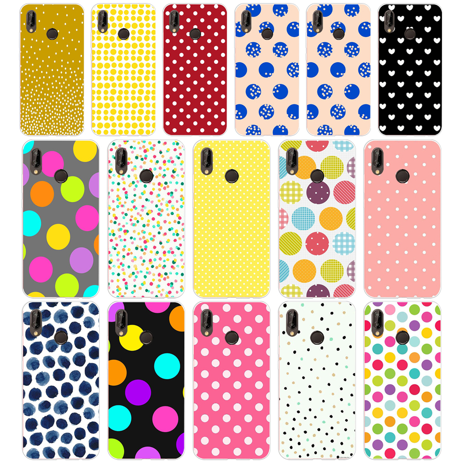 109sd Stippen Zachte Siliconen Tpu Cover Case Voor Honor 10 Huawei P Mate 10 20 Lite Y5 Y6 Prime 2018