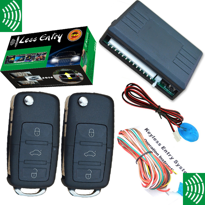NEW keyless entry with OEM VW flip key remotes auto window up output remote remote lock and unlock remote trunk open no alarm