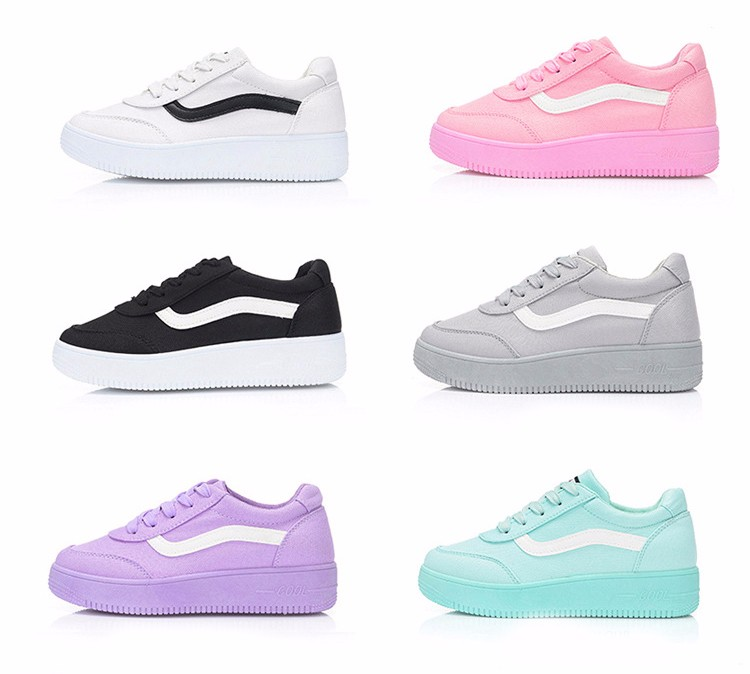 Free Shipping 2016 New Fashion Women Casual Shoes Comfortable Lace-up Woman Flats Classic Round Toe Sports Shoes ST427 (2)