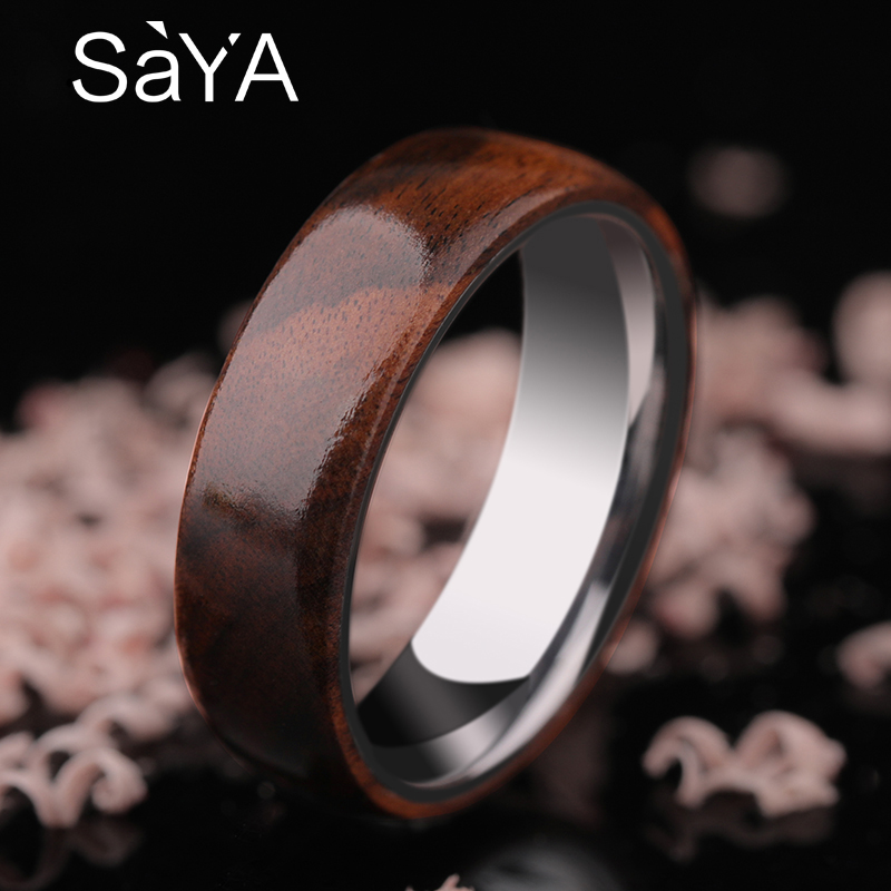 2018 New Arrival 8mm Width Tungsten Wood Rings for Man Woman High Polished Tungsten Band Inside Wood Inlay Outisde Size 7-10 2018 new arrival 10mm width black ceramic bracelet tungsten links for man inlay luxury opal 18 5cm 20cm length free shipping