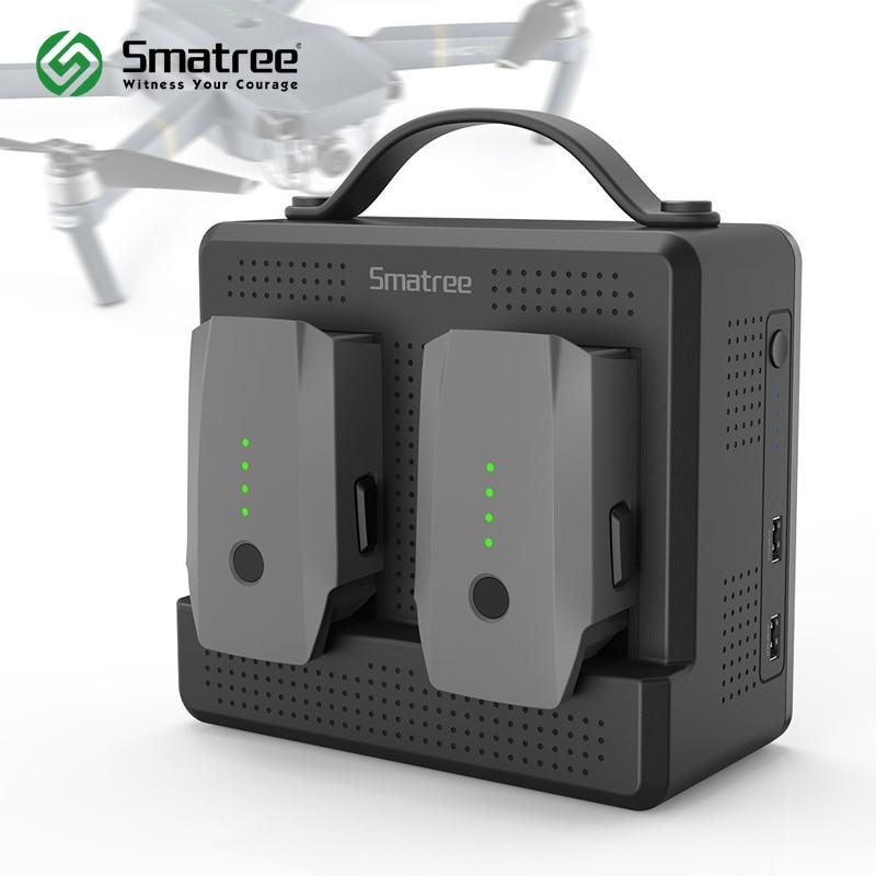 Smatree Battery Charger for DJI Mavic Pro,Portable Mavic Platinum Battery Charging Station,charge 2 batteries simultaneously