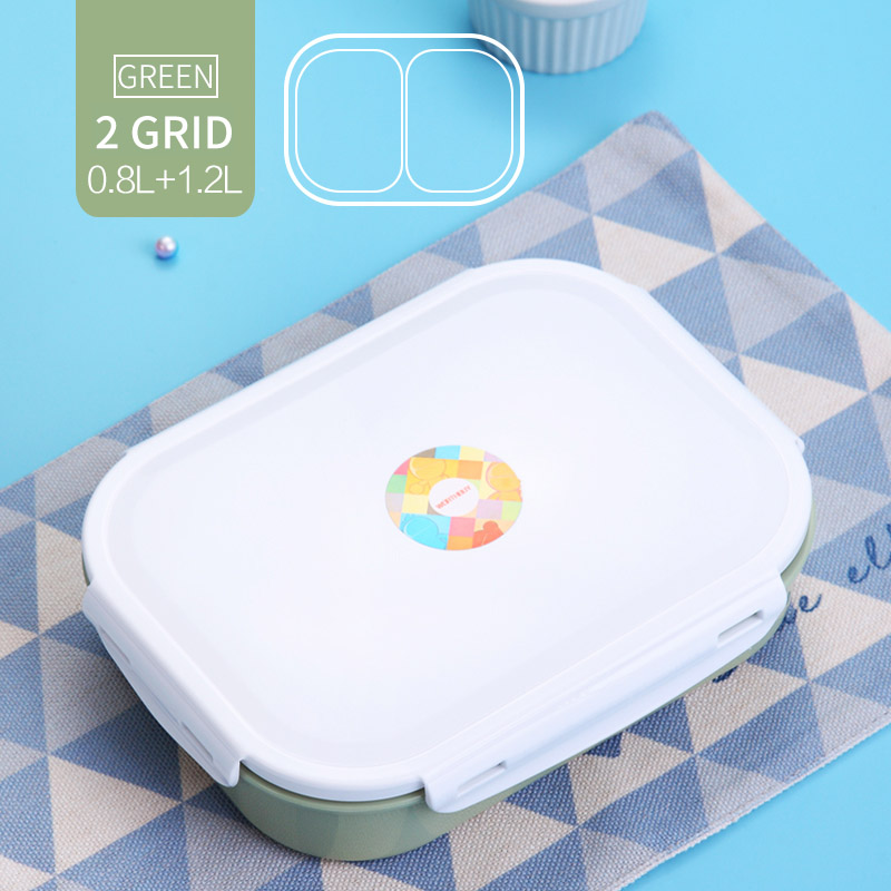 2a58e66e48e4 WORTHBUY 304 Stainless Steel Japanese Lunch Box With Compartments Microwave  Bento Box For Kids School Picnic Food Container