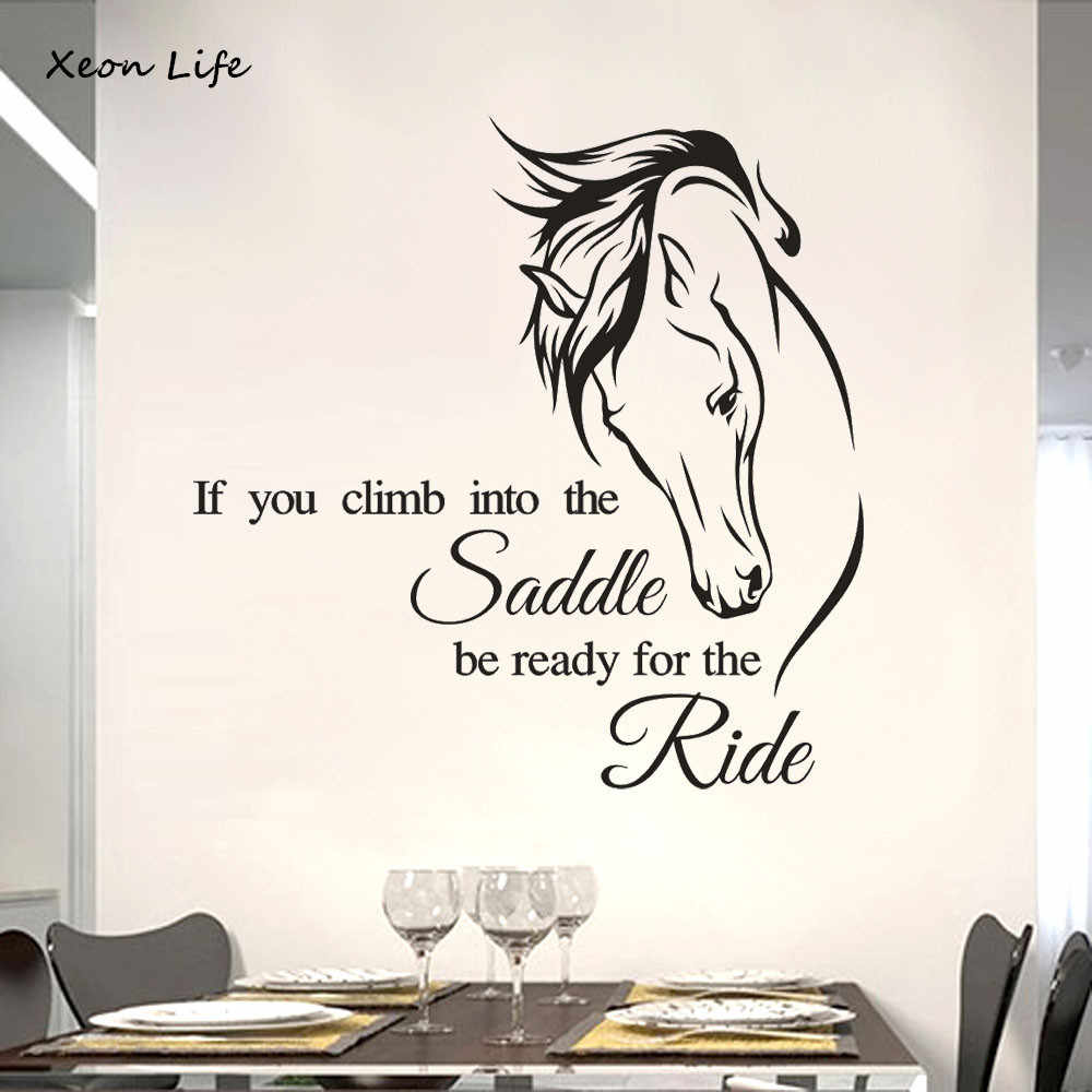 Hot Selling New 1pc 50*50cm Horse Removable Art Vinyl Mural Home Room Decor Wall Stickers Wallpaper Wall Decal