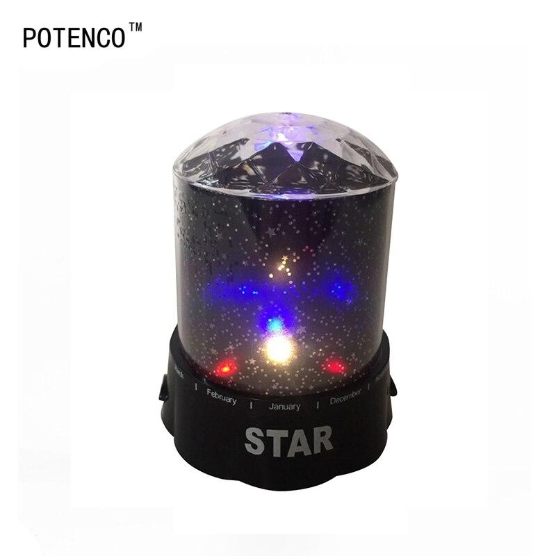Potenco красочные лазерный проектор лампы 2 Вт 4 Светодиодная лампа небо Звезда Космос ночник для детей подарок лампе романтический удивительн...
