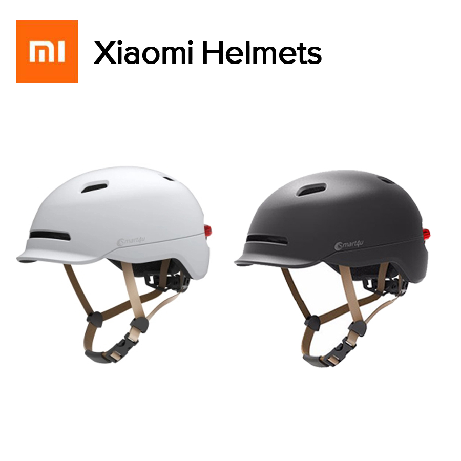 Nuevo Xiaomi Smart4u bicicleta impermeable mate casco inteligente Flash cascos luz de fondo en carretera de montaña Scooter para hombres mujeres
