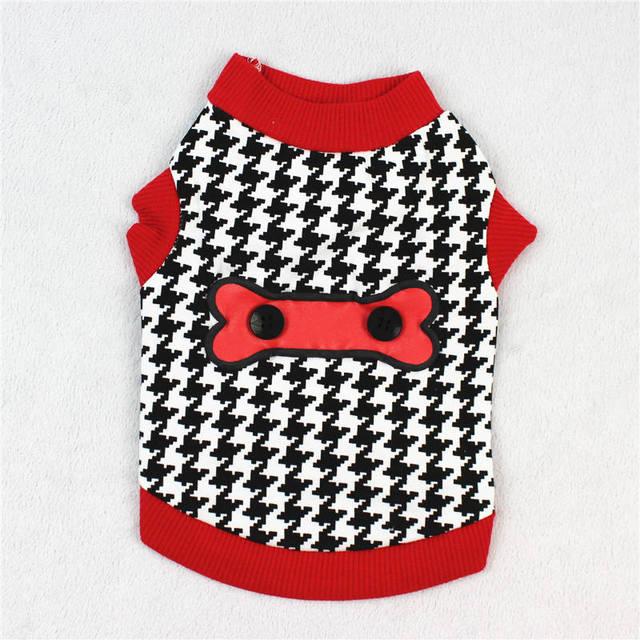 Inverno Caldo A Righe Vestiti Del Cane Cucciolo Bulldog Pet Cat Costume di Modo