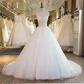 SL-38 Новый Свадебные Платья Длинные Бисероплетение Кружева Реальную Картину Свадебное Платье Плюс Размер 2017