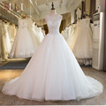 SL-38 New Bridal Gowns Long Beading Lace Real Picture Wedding Dress Plus Size 2017