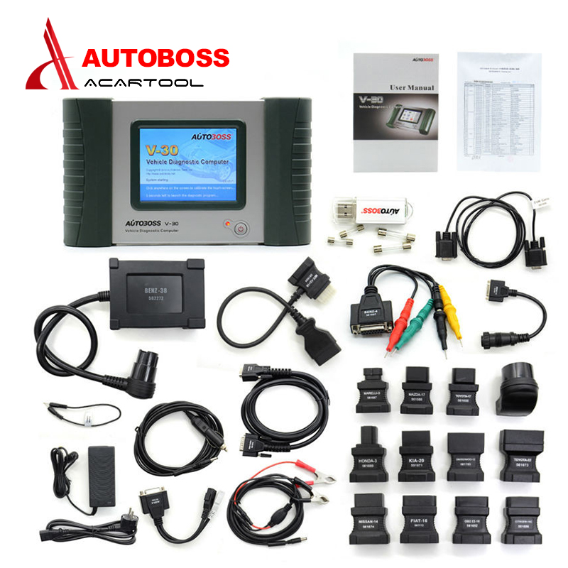 2016 Original Autoboss V30 Free Update Online Auto Diagnostic Tool Car Code Scanner Reader for America Europe Cars Free shipping