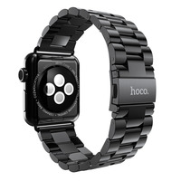 HOCO Metal 38mm 42mm Stainless Steel Strap For Apple Watch IWatch Matte 3 Pointers Band Bracelets