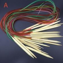 Круглые спицы длиной 100 см 2,0 мм, 2,5 2,75 3 3,25 3,5-10,0 мм Гладкие Бамбуковые Спицы для вязания крючком Крючки