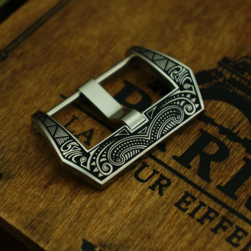Prix pour Maikes 316L en acier inoxydable bracelet fermoir 22 mm 24 mm 26 mm brossé déploiement bande de montre boucle pour Panerai