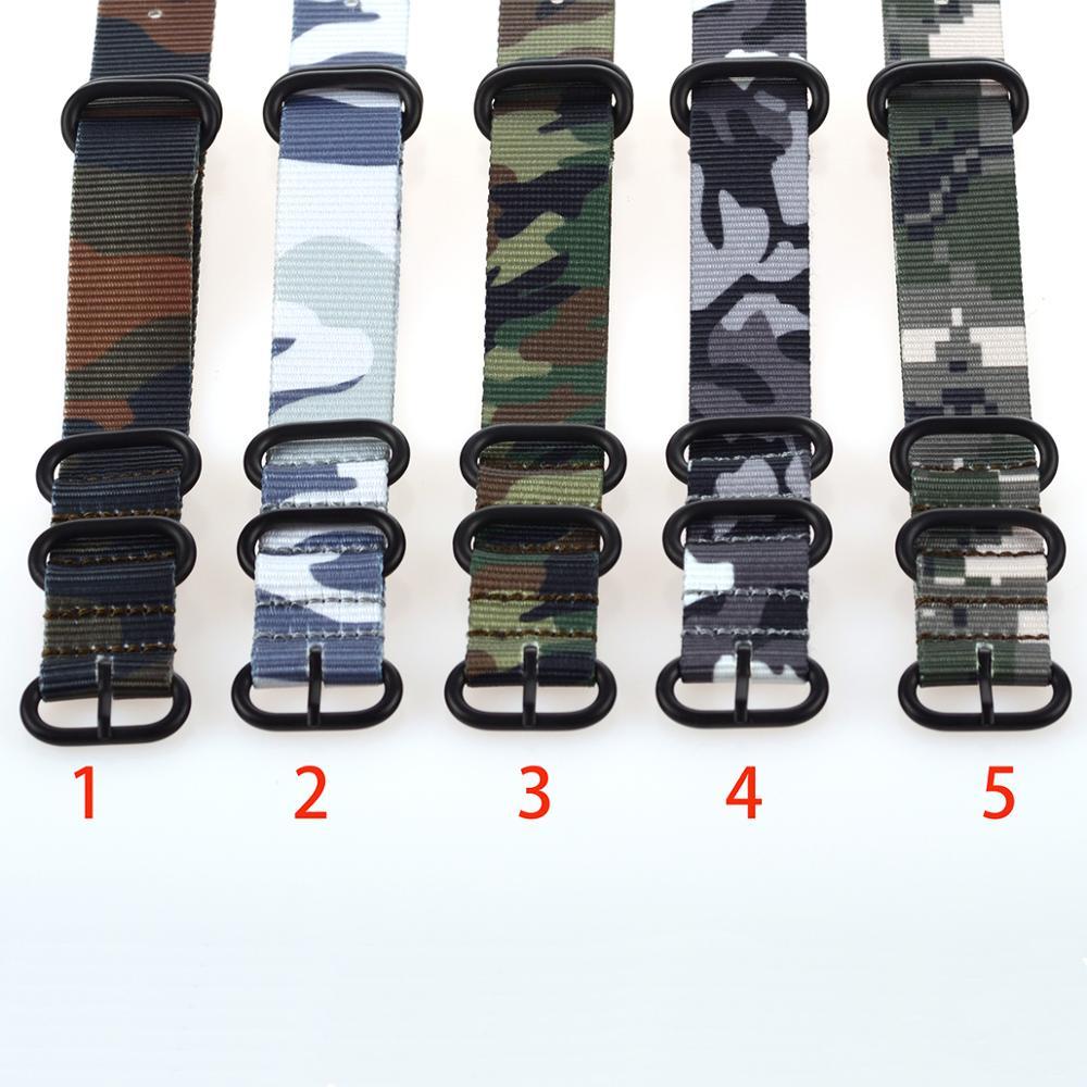 EACHE ZULU камуфляжные нейлоновые ремешки для часов 18/20/22/24 мм ремешок для часов с серебристыми и черными пряжками из нержавеющей стали