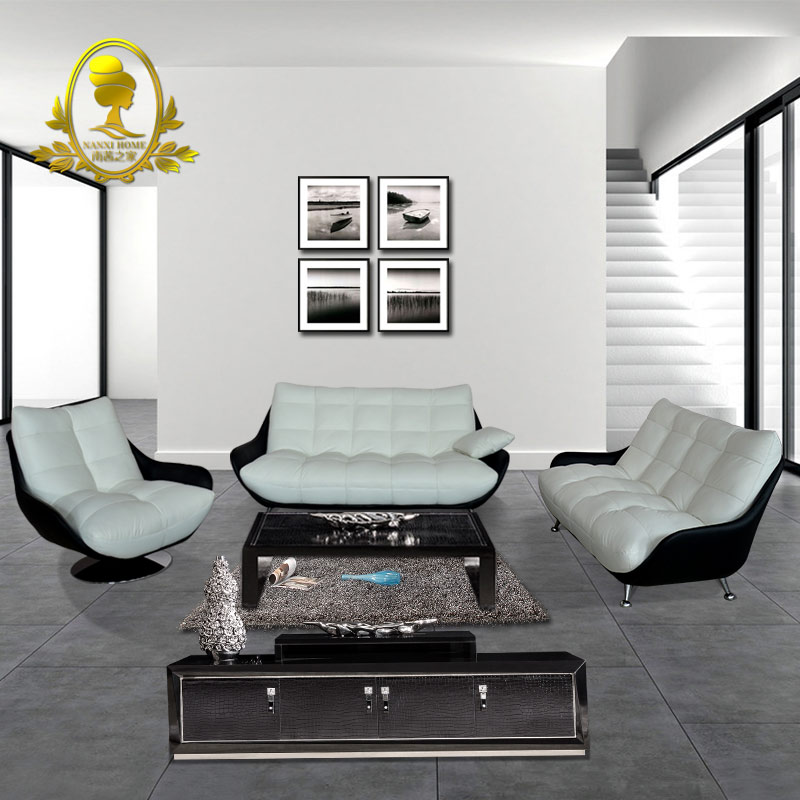 modern furniture leather sofa sectional L shape home