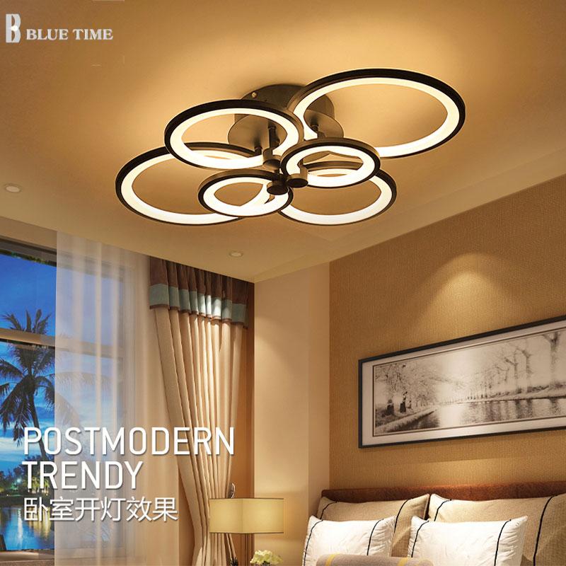 White Finished Led Circle Modern Chandelier Lights For Living Room Ceiling Lights