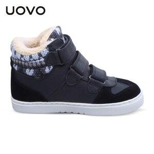 Image 4 - UOVO ฤดูหนาวรองเท้าผ้าใบเด็กแฟชั่นกีฬารองเท้าสำหรับเด็ก Big Boys And Girls รองเท้าขนาด 30 # 39 #