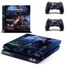 UNCHARTED 4  Vinyl Sticker Skin For PS4 PlayStation 4 Console+Free Controller Cover Decal